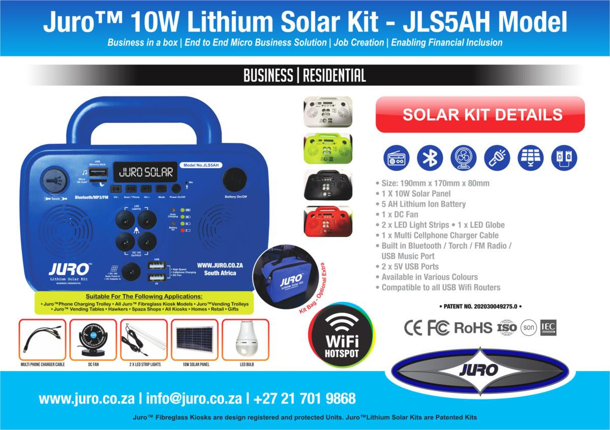 Juro™-10W-Lithium-Solar-Kit---JLS5AH-Model