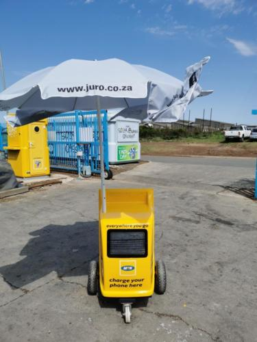 Juro™ Solar Phone Charging Trolley